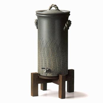 ~健康で安全な水~ 【送料無料♪】セラミック浄水器黒窯変 浄水器5L
