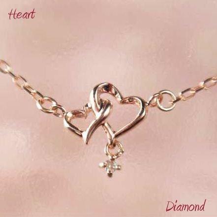 全品送料無料 送料無料 ダイヤモンドペンダント ハート k10pg 10金ピンクゴールド ギフト 新品 ダイヤモンド ネックレス