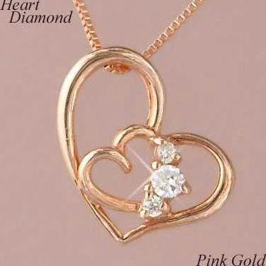 送料無料 ダイヤモンドペンダント 誕生日 お祝い ハート k10pg 入荷予定 10金ピンクゴールド ダイヤモンド ギフト ネックレス