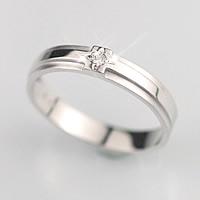 14金 14k K14 ホワイトゴールド 14k K14WG クロスライン (4月 誕生石) ダイヤモンドリング (マリッジリング 結婚指輪 刻印無料) 【レディース 結婚記念日 誕生日プレゼント 女性用 彼女】【母の日 ギフト】