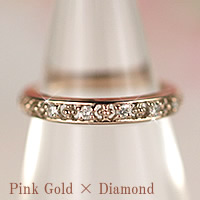ダイヤモンド ピンキーリング (4月 誕生石) 10金 ピンクゴールド 10k K10 ダイヤリング 指輪【レディース 女性用 誕生日プレゼント 結婚記念日】【妻 母 贈り物】【母の日 ギフト】