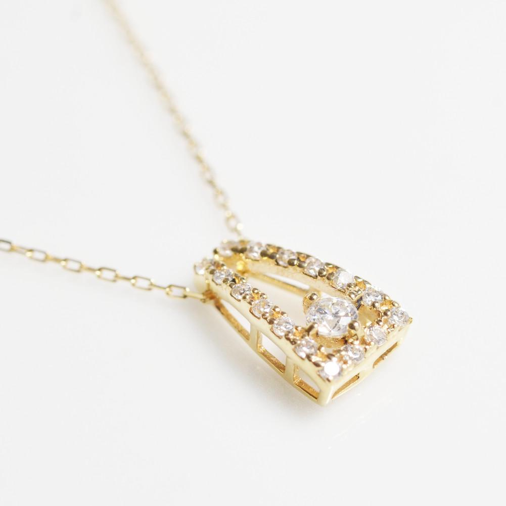 K18金 ダイヤモンド ネックレスイエローゴールド ピンクゴールド ホワイトゴールド YG PG WG レディース