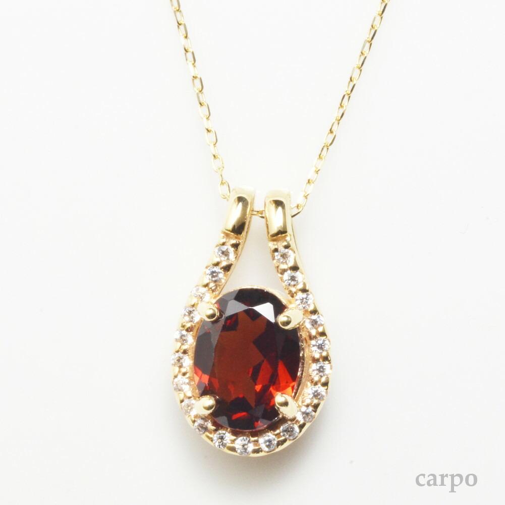 K18金 ダイヤモンド 1粒 ガーネット ダイヤモンド ネックレスイエローゴールド ピンクゴールド ホワイトゴールド YG PG WG レディース