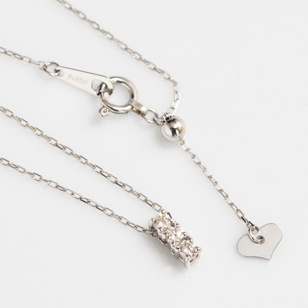 期間限定価格 プラチナ ダイヤモンド ネックレス 0.10ct pt900 トリロジー スリーストーン レディース ギフト 送料無料 母の日 クリスマス