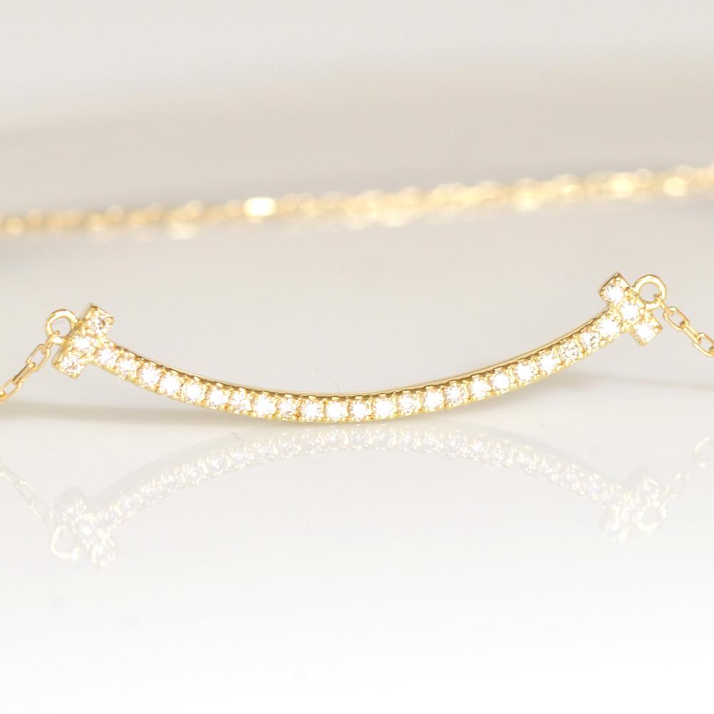 K18金 スマイル ライン バー ダイヤモンド ネックレス イエローゴールド ピンクゴールド ホワイトゴールド YG PG WG レディース ギフト 送料無料 母の日 バレンタイン レディース