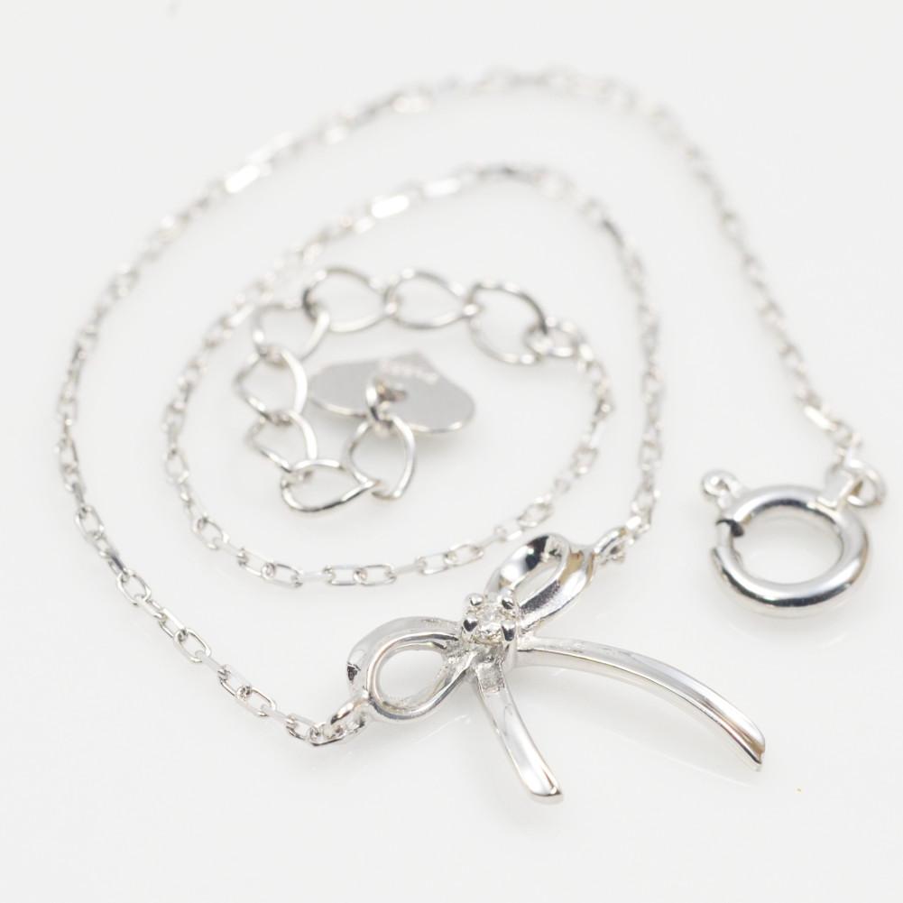 プラチナ リボン モチーフ ダイヤモンド ブレスレット pt900 レディース ギフト プレゼント