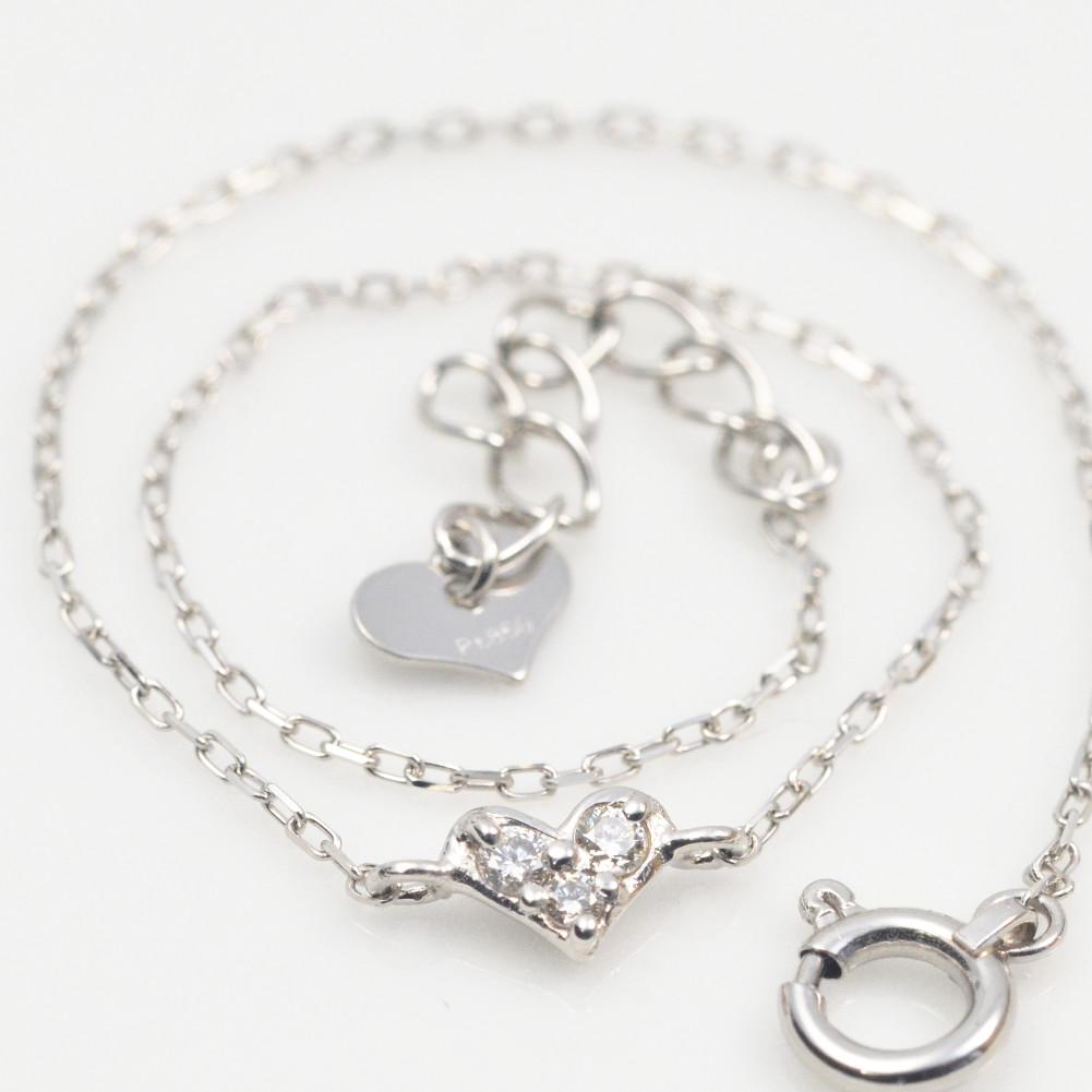 プラチナ ダイヤモンド ブレスレット ハート モチーフ pt900
