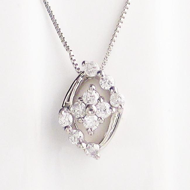 プラチナ900 ダイヤモンド ネックレス 0.10ct レディース ジュエリー ファッション ギフト プレゼント ペンダント Pt900