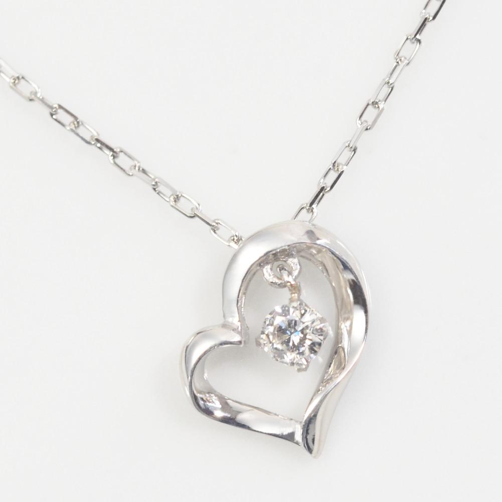 K10金 1粒 ダイヤモンド ハート ネックレス 0.06ct K10イエローゴールド K10ピンクゴールド K10ホワイトゴールド 一粒