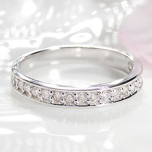 ジュエリー・アクセサリー・レディース・指輪・リング・ホワイトゴールド・ダイヤモンド・エタニティ・K18・18金・0.3ct・ふちあり・ダイア・送料無料・刻印無料・品質保証書付・代引手数料無料・ギフト・プレゼント