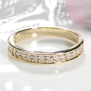 ジュエリー・アクセサリー・レディース・指輪・リング・イエローゴールド・ダイヤモンド・エタニティ・K18・18金・0.3ct・ふちあり・ダイア・送料無料・刻印無料・品質保証書付・代引手数料無料・ギフト・プレゼント