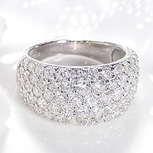 ファッション・ジュエリー・アクセサリー・レディース・指輪・リング・プラチナ・Pt900・ダイヤモンド・ダイアモンド・3カラット・パヴェ・刻印無料・代引手数料無料・送料無料・品質保証書・ホワイトデー・ギフト・プレゼント・4月誕生石・SI・Gカラー