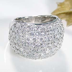 ファッション・ジュエリー・アクセサリー・レディース・指輪・リング・プラチナ・pt900・ダイヤモンド・ダイア・5カラット・パヴェリング・刻印無料・送料無料・品質保証書・パヴェ・プレゼント・4月誕生石・クリスマス・Gカラー・SI