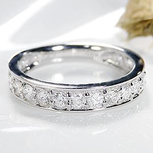 ファッション ジュエリー アクセサリー レディース 指輪 リング プラチナ ダイヤモンド リング ダイアモンド 1カラット ダイヤ リング エタニティ ハーフエタニテイ 送料無料 刻印無料 品質保証書 代引手数料無料 結婚 プレゼント フチあり