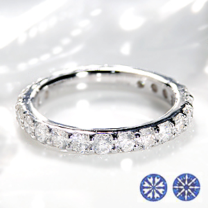 ◆ハート&キューピッド ダイヤモンド フルエタニティ リング 【スコープ付】【送料無料】