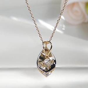 K18WG/YG ダイヤモンドネックレス ペンダント ジュエリー アクセサリー レディース ネックレス ペンダント ホワイトゴールド イエローゴールド ダイヤモンド ダイア ダイヤネックレス 4月誕生石 プレゼント 送料無料 品質保証書 代引手数料無料