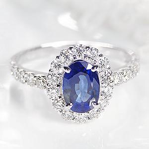 ◆Pt900 ブルーサファイア & ダイヤモンド リング上品 ジュエリー 指輪 ダイヤ リング プラチナ ブルーサファイヤ サファイヤ オーバル 楕円 送料無料 刻印無料 品質保証書 代引手数料無料 プレゼント sapphire ring