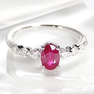 ◆pt900 ルビー ダイヤモンドリング指輪 リング プラチナ ダイヤモンド ルビーリング 1カラット 1.00 可愛い リング 7月誕生石 大粒 人気 送料無料 刻印無料 代引手数料無料 品質保証書 誕生石 7月 ギフト プレゼント