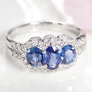 ◆K18WG ブルーサファイア ダイヤモンドリング【送料無料】取り巻き 人気 オシャレ おしゃれ 指輪 ダイヤ 18k ブルーサファイヤ サファイヤ オーバル  刻印無料 品質保証書 代引手数料無料 プレゼント 9月 sapphire ring