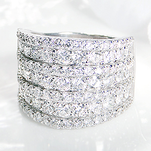 k18WG【3.0ct】SIクラス ダイヤモンド パヴェリングダイヤリング ホワイトゴールド SI ダイア pave 指輪 18金 3.00ct 3カラット ギフト プレゼント【送料無料】【刻印無料】【品質保証書】