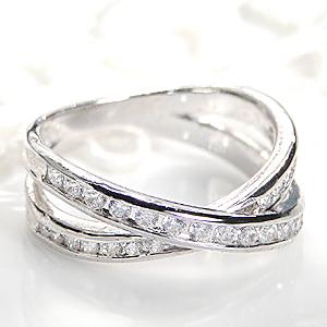 ◆pt900【0.55ctUP】ダイヤモンド クロス リング 指輪 ダイヤモンド リング プラチナ Pt900 ダイヤ リング クロス 人気 オシャレ 0.5 0.50 送料無料 刻印無料 品質保証書 代引手数料無料 プレゼント