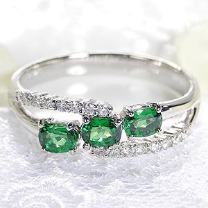 Pt900 グリーンガーネット ダイヤモンド リング指輪 リング プラチナ グリーンガーネット ダイヤ ダイアモンド 緑 グリーン オーバル 送料無料 刻印無料 品質保証書 代引手数料無料 ギフト プレゼント 1月誕生石