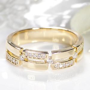 K18WG YG PG 0.17ctUP ダイヤモンド リング結婚指輪 シンプル おしゃれ 人気 ジュエリー 幅広 指輪 リング 平打ちリング イエロー ピンク ホワイト ゴールド ダイア K18 18金 送料無料 刻印無料 品質保証書 代引手数料無料