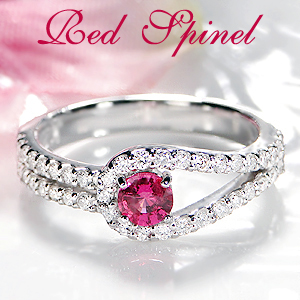 ◆Pt900 レッドスピネル ダイヤモンド リング指輪 リング プラチナ pt900 ダイヤモンド ダイヤ ダイア 希少石 4月誕生石 10月誕生石 プレゼント 送料無料 刻印無料 品質保証書 代引手数料無料