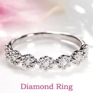 Pt900 ダイヤモンド リングジュエリー 指輪 ダイヤ リング プラチナ フラワー 花 オシャレ ダイヤリング 0.15ct プラチナ900 人気 可愛い 送料無料 刻印無料 品質保証書 代引手数料無料 ギフト プレゼント