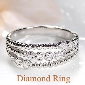 Pt900 ダイヤモンド リングジュエリー 指輪 ダイヤ リング プラチナ ダイヤリング 個性的 3連 ミルグレイン オシャレ 幅広 プラチナ900 透かし 送料無料 刻印無料 品質保証書 代引手数料無料 ギフト プレゼント