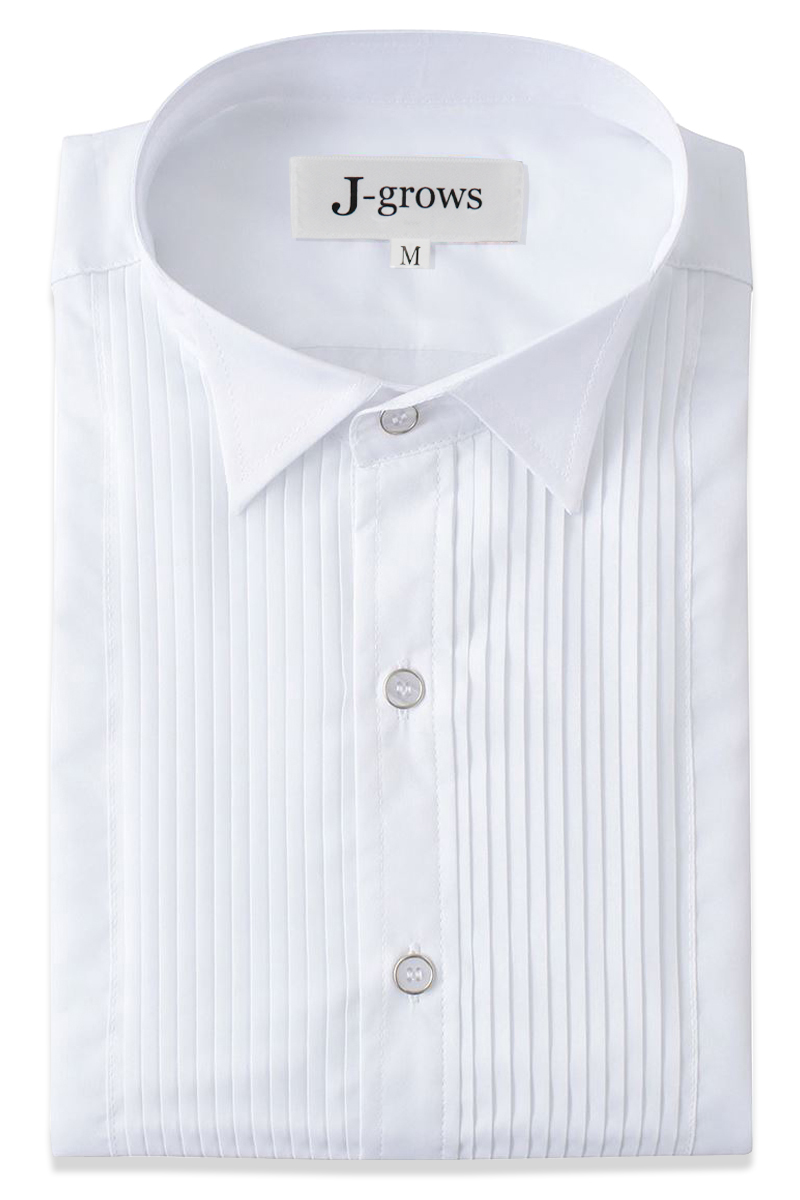 fair price enjoy lowest price Clearance sale Men's Tuxedo Shirt Wing Collar 1/4 Inch Pleat