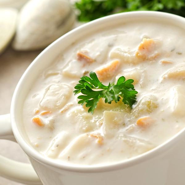 ぷるるん姫 注目ブランド 満腹美人シリーズ 食べるクラムチャウダー24食入豆乳仕立て 本日の目玉 減塩タイプ