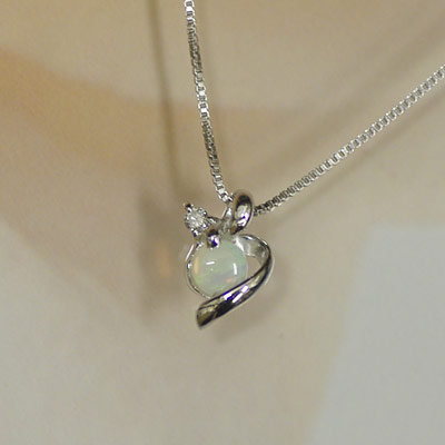 J kimura rakuten global market white gold birth stones diamonds white gold birth stones diamonds necklace k18wg party carries the opal pendant happy bond happy october birth stone memorial birthday aloadofball Gallery