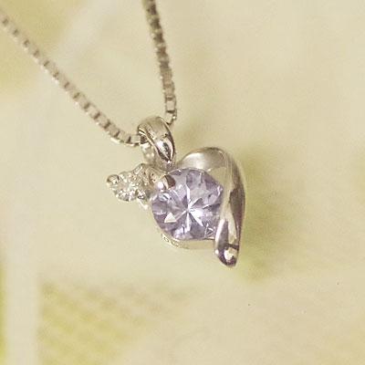 ホワイト ゴールド 誕生石 ネックレス 12月 タンザナイト ダイヤモンド ペンダント K10WG 【あす楽対応】 幸せをはこぶ誕生石 記念日 誕生日 【送料無料】
