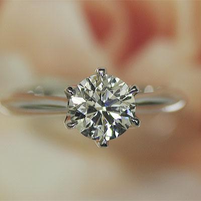 ☆婚約指輪 ダイヤモンドエンゲージ リング プラチナ1カラット Gカラー VS2 GOOD ダイヤを美しく魅せる小さな爪※お買い上げのお客様、マリッジリング1本につき2000円値引 安い