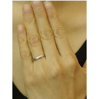 Wedding ring wedding ring pairing Platinum CHANTE PT900-Mint test mark surface Zia erased cursive...?... Kanji... heart... imprinted accepted ) married Memorial Day white ☆ two ties
