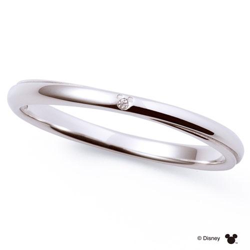 送料無料 【 ディズニーコレクション 】 ミッキー x ミニー THE KISS sweets 【メンズ・1本販売】 指輪 ディズニー ダイヤモンド ホワイトゴールド ペアリング 筆記体日本語刻印可能 指輪 THEKISS DI-WR2705DM 記念日 ホワイトデー ホワイトデー 安い