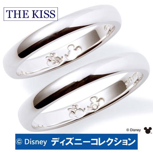 【THE KISS 正規品】  15倍ポイント 2月10日☆ ペアリング ディズニー ミッキー ミニー THE KISS ザ キッス シルバー ブランド 指輪 刻印無料 筆記体日本語可 ダイヤモンド レディース メンズ おそろい ペア販売 DI-SR1812DM-DI-SR1813DM 記念日 プレゼント おしゃれ かわいい