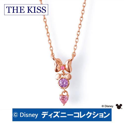 【ディズニーコレクション】 ミニー THE KISS ザ キッス シルバー ブランド ネックレス 【レディース・1本販売】 SV925製 ピンクゴールドコーティング リボンxフェイスxハート DI-SN6016CB 記念日 ホワイトデー ホワイトデー