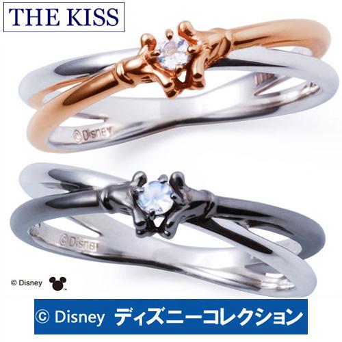 【ディズニーコレクション】 ミッキー & ミニー ハンドモチーフ THE KISS シルバー ペアリング 【ペア販売】 指輪 ディズニー SV925 ロイヤルブルームーンストーン 指輪 THEKISS DI-SR700RBM-DI-SR701RBM 記念日 ホワイトデー ホワイトデー