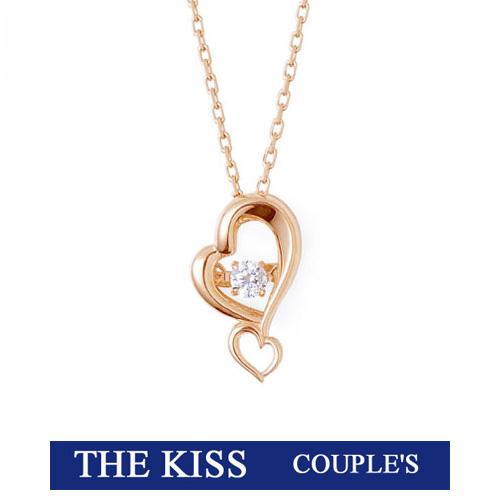 あす楽/即納 ダンシングストーン Dancing Stone ネックレス THE KISS ザ キッス シルバー レディース ハート ピンクゴールドコーティング キュービックジルコニア SPD5007CB 記念日 ホワイトデー ブランド 20代30代 キュート おしゃれ かわいい 可愛い