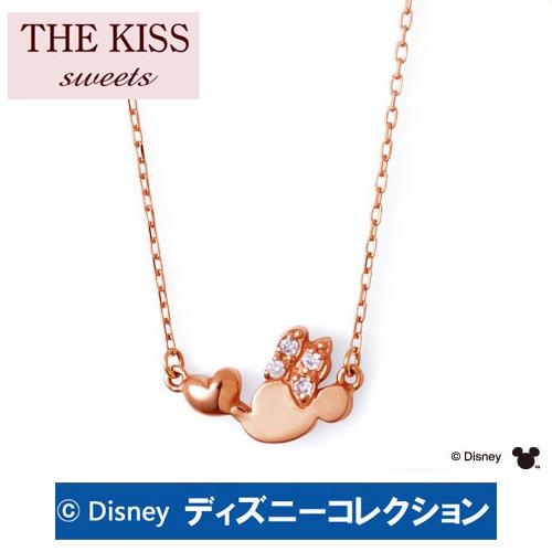 ネックレス ディズニー ミニー THE KISS ザ キッス sweets ピンクゴールド レディース ブランド ハート リボン ダイヤモンド DI-PN2700DM ディズニーコレクション 記念日 ギフト プレゼント 20代 30代 ホワイトデー