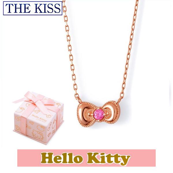 ネックレス ハローキティ THE KISS ザ キッス シルバー ブランド レディース リボン ピンクコーティング KITTY-19CB Hello Kitty クリスマス 記念日 ギフト プレゼント 20代 30代 おしゃれ かわいい キュート ★