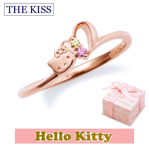 【年内不可】ハロー キティー【HELLO KITTYxTHE KISS ザ キッスコラボ】 THE KISS ザ キッス シルバー ブランド リング 【レディース販売】 SV925製 ハートモチーフ ピンクコーティング x キュービックジルコニア KITTY-15CB 記念日 クリスマス ホワイトデー