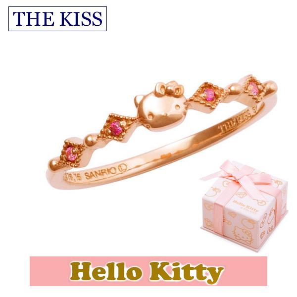 ハロー キティー 【HELLO KITTYxTHE KISS ザ キッスコラボ】 THE KISS ザ キッス シルバー ブランド リング 【レディース販売】 SV925製 フェイスモチーフ ピンクコーティング x キュービックジルコニア KITTY-37CB 記念日 クリスマス ホワイトデー