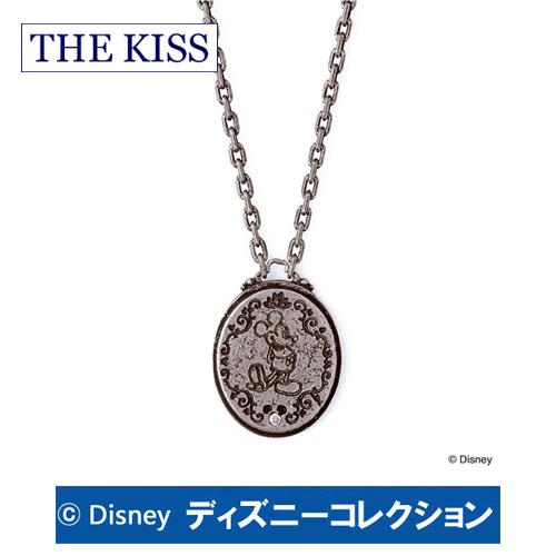 ネックレス ディズニー ミッキー アンティーク THE KISS シルバー ダイヤモンド メンズ おそろいDI-SN1216DM ブランド ディズニーコレクション 記念日 ギフト プレゼント 20代 30代 ホワイトデー