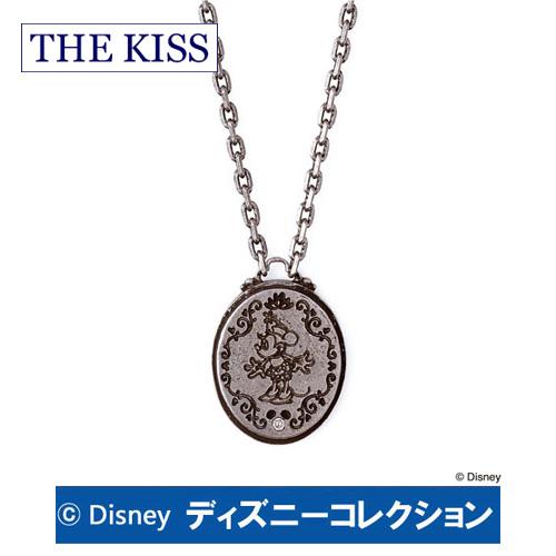 【ディズニーコレクション】 ミニー アンティーク THE KISS シルバー ペアネックレス ダイヤモンド 【レディース・1本販売】 SV925 DI-SN1215DM ディズニーペアネックレス ミッキーペアネックレス 記念日 ホワイトデー ホワイトデー