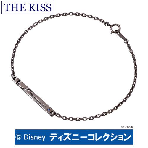 ブレスレット ディズニー ベル THE KISS ザ キッス シルバー ブレスレット ブラックロジウムコーティング メンズ キュービックジルコニア DI-SBR2401CB ブランド ディズニーコレクション 記念日 ギフト プレゼント 20代 30代 ホワイトデー