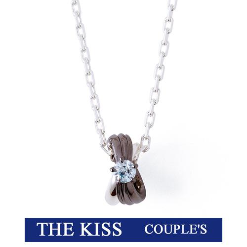 【Wish upon a star】 THE KISS ザ キッス シルバー ブランドペア ネックレス キュービックジルコニア 【メンズ・1本販売】 SPD265WUAS 【THEKISS 正規品】 記念日 ホワイトデー ホワイトデー