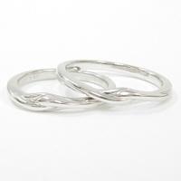 結婚指輪 マリッジリング ホワイトゴールド ペアリング 【ペア価格】 K10WG製 コンピュータ刻印☆きれいな刻印が入ります! 結婚記念日 ホワイトデー 【納期3週間】 ★ [ジュエリー大賞ショップ1位] 安い